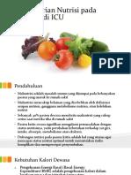 Pemberian Nutrisi Pada Pasien Di ICU