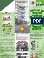 TRIPTICO-Practicas de Uso y Manejo de Ex Tint Ores e Hidrantes y Tecnicas de Arrastre 2009