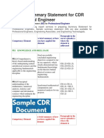 Sample Summary Statement for Professional Engineer,ReviewMyCDR