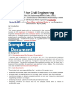 Sample CDR for Civil Engineering,ReviewMyCDR