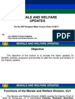 Morale and Welfare Updates 2017 Lecture to SMC July 2017 final.pptx