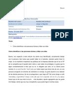 CLAE9 Belem Sarahi Martinez Hermosillo - Cómo Identificar a Las Personas Tóxicas y Lidiar Con Ellas