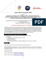 5th-Call for Proposals in DST-InRIA-CNRS Targeted Programme