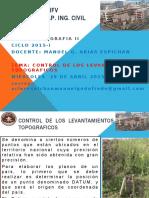 Control de los Levantamientos Topograficos UNFV - FIC