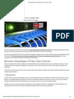 8 Advantages of Fiber-Optic Internet Vs