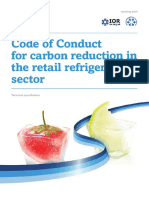 Technical Specification 22nd June 2011 - Code of Conduct for carbon reduction in the retail refrigeration sector