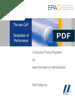 The new Declaration of Performance (description)