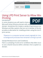 Using LPD Print Server to Allow Workgroup Printing