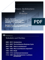 Software Architecture and practice