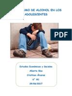 El alcohol en los adolescentes
