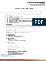 3 Proposal of H2S COURSE