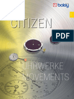 Citizen Uhrwerke Movements