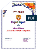 Airline Reservation System Visual Basic