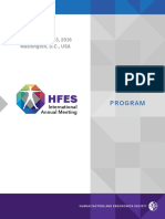 2016 HFES Annual Meeting Program