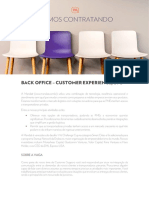 Customer Experience Operações - Back Office