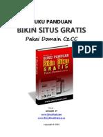 Panduan Bikin Situs Gratis Pakai Domain Cz cc