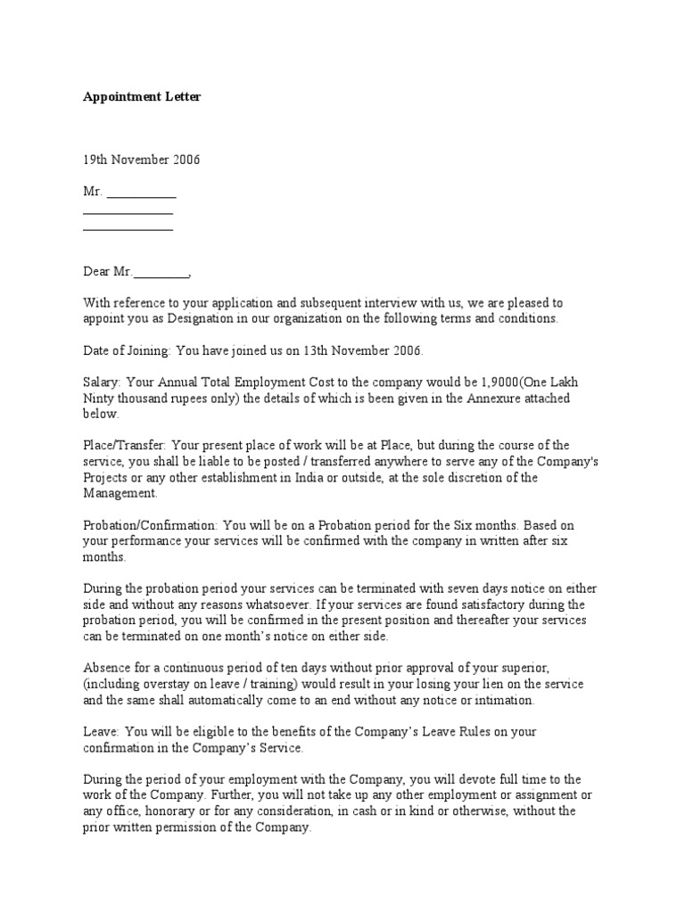 1490757458 – Intimation Letter Format