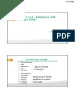 Accounting – Concepts and Balance Sheet