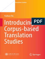 Introducing Corpus-based Translation Studies