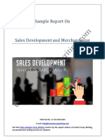 Sample Report on Sales Development and Merchandising By Instant Essay Writing