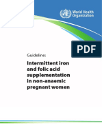 WHO 2012_Guideline Intermittent iron and folic acid supplementation in non-anaemic pregnant women.pdf