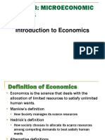 Week1 - Introduction to Economics