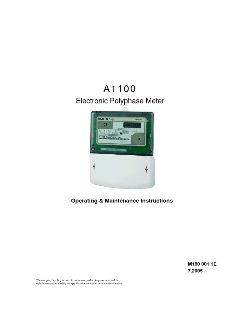 elster meter a1100 mains electricity occupational safety and health1tou2.exe #4