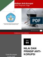 Bab 4 Nilai Dan Prinsip Anti-korupsi