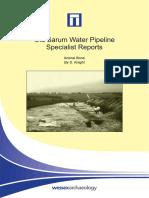 Old Sarum Pipeline Specialist Report - Animal Bone