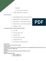 CDPPT Functionalities