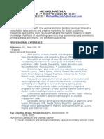 Mazzola Format CV