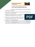 Eligibility Criteria of Scholarship