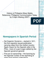 History of Phil. Mass Media