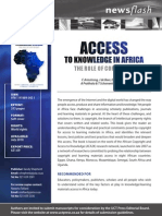 Access to Knoweldge in Africa Flyer