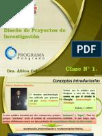 Diseño de Proyectos de Investigación CLASE 1