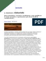 Scienzaeconoscenza.it - Marco Vignali 2013.12.04 - L'Effetto Maharishi
