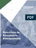 Directrices 2018 para Elaboración de POA y Presupuesto