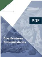 Clasificadores Presupuestarios 2018