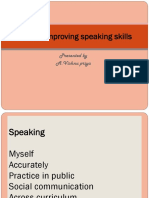 Tips for improving speaking skills