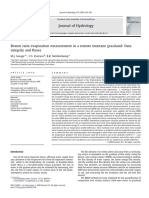 Bowen Ratio Evaporation Measurement in a Remote Montane Grassland Data Integrity and Fluxes
