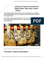 Easy Understanding of 3-Phase Transformer Connections (Delta–Delta, Wye–Wye, Delta–Wye and Wye–Delta) _ EEP