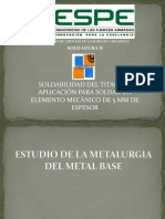 Estudio de La Metalurgia Del Metal Base