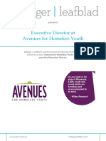 Avenues for Homeless Youth - Executive Director - Position Profile