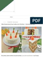 {Buchrezension} Aus Liebe Zum Kochen – Karottenkuchen _ Puhlskitchen