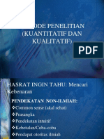 Metode Penelitian Kuantitatif Dan Kualitatif