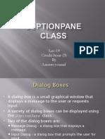 JOption Pane Class Ref