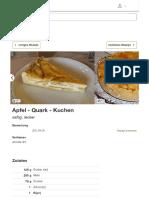 Apfel - Quark - Kuchen (Rezept Mit Bild) Von Annett-dm _ Chefkoch
