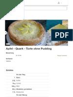 Apfel - Quark - Torte Ohne Pudding (Rezept Mit Bild) _ Chefkoch