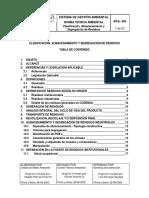 NTA-405 Clasificación, Almacenamiento y Segregación de Residuos