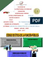 Análisis Del Código Ético de La Función Publica